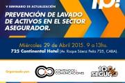 29/4/15: Seminario sobre Lavado exclusivo para el mercado asegurador