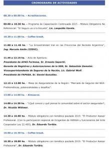 Cronograma de FAPASA y APASFOR