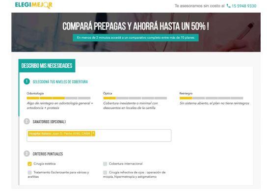 Elegimejor.net, el Trivago de las prepagas
